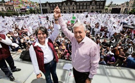 Se acabará la corrupción y no habrá más Casas Blancas ni departamentos en Miami: Delfina Gómez